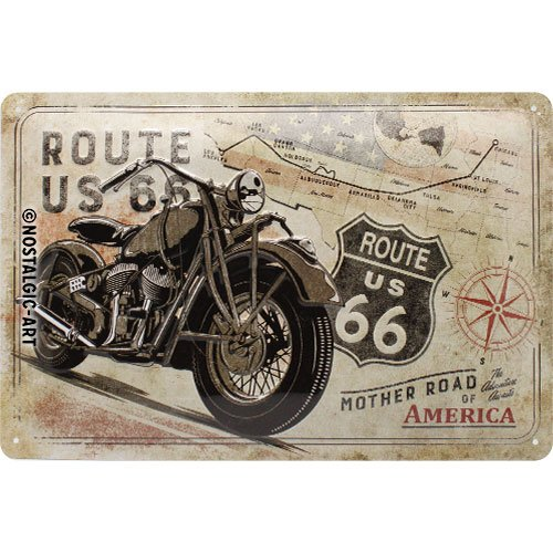 Cartel de chapa retro Route 66
